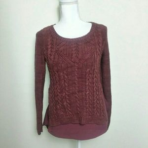 Anthro Moth Ella Cable Knit Sweater